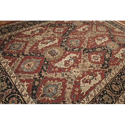 One-of-a-Kind Replogle Soumac Oriental Hand-Knotted Wool Rust/Black Area Rug