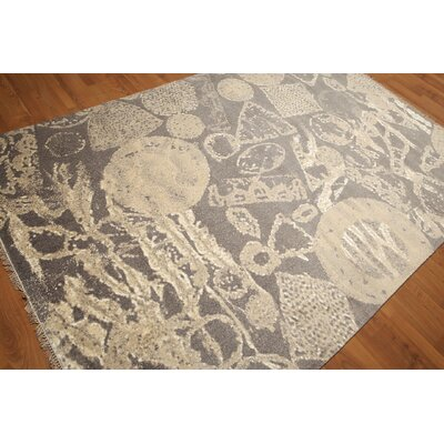One-of-a-Kind Lorentz Hand-Knotted Wool Beige/Ivory Area Rug