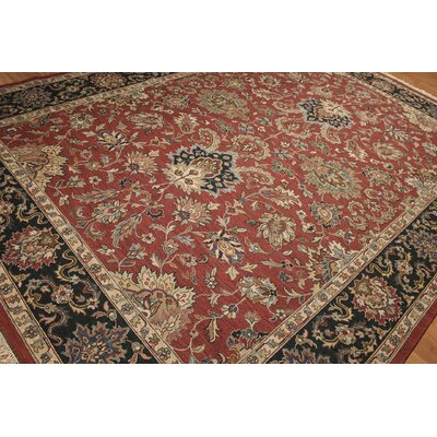 One-of-a-Kind Soumac Oriental Hand-Knotted Wool Rust/Black Area Rug
