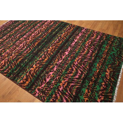 One-of-a-Kind Fitzgibbon Wool Green/Pink Area Rug