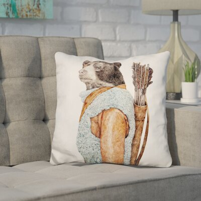 Hesiod Hunter Throw Pillow