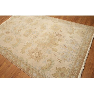 One-of-a-Kind Greenwich Wool Beige/Gold Area Rug