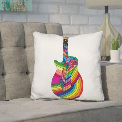 Corktown Guitar Feather Throw Pillow