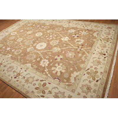 One-of-a-Kind Replogle Persian Oriental Hand-Knotted Wool Brown/Beige Area Rug