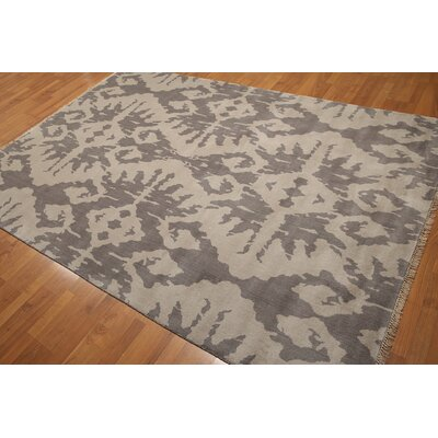 One-of-a-Kind Fitzsimmons Wool Gray/Beige Area Rug