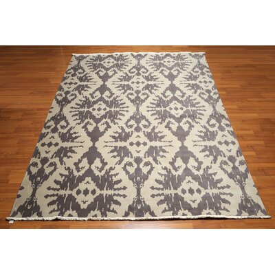 One-of-a-Kind Pastore Hand-Knotted Wool Gray/Beige Area Rug