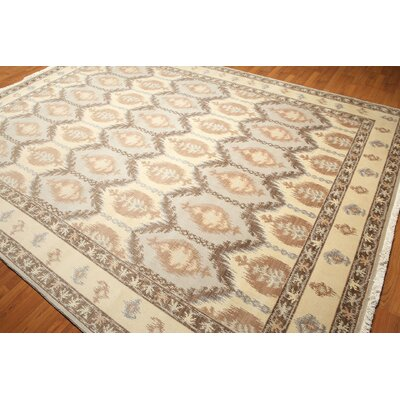 One-of-a-Kind Gorbold Wool Beige/Gray Area Rug