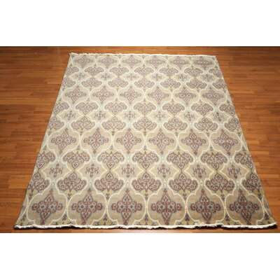 One-of-a-Kind Fishponds Wool Beige/Brown Area Rug