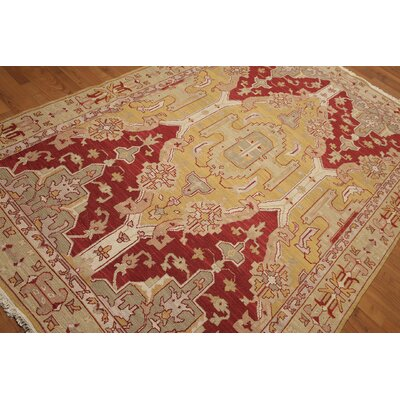 One-of-a-Kind Hameldon Hand-Knotted Wool Gold/Rust Area Rug