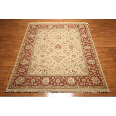 One-of-a-Kind Hamilton Oriental Hand-Knotted Wool Beige/Rust Area Rug
