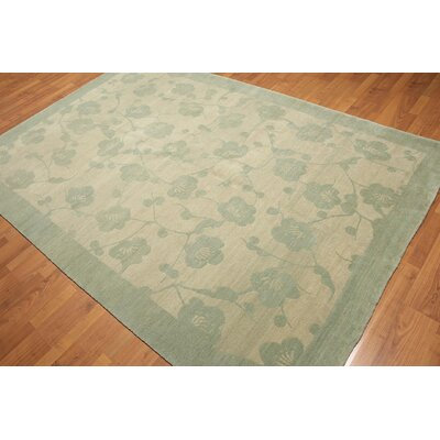 One-of-a-Kind Gelb Hand-Knotted Wool Tone/Aqua Area Rug
