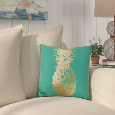 Graywell Pineapple on Emerald Throw Pillow
