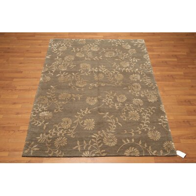 One-of-a-Kind Gruenwald Hand-Knotted Beige/Olive Area Rug