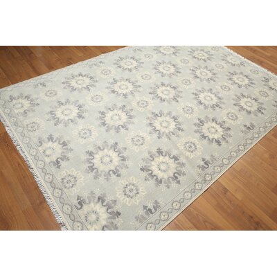 One-of-a-Kind Groggan Hand-Knotted Wool Beige/Gray Area Rug