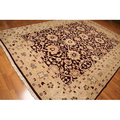 One-of-a-Kind Rawley Hand-Knotted Wool Marine/Beige Area Rug