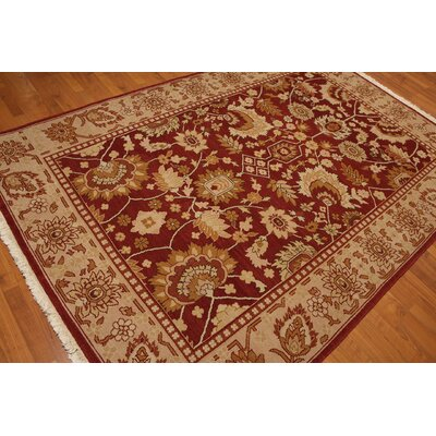 One-of-a-Kind Rayford Oushak Hand-Knotted Wool Rust/Beige Area Rug