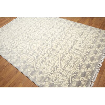 One-of-a-Kind Groveland Wool Gray/Ivory Area Rug