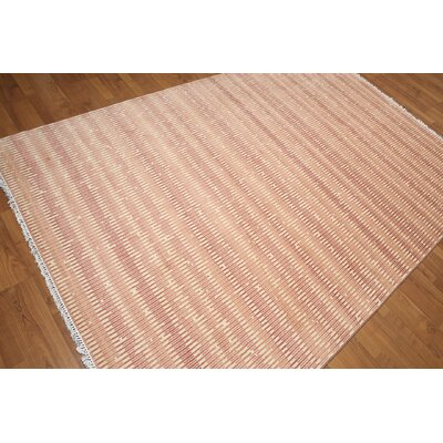One-of-a-Kind Flanigan Wool Beige/Terracotta Area Rug
