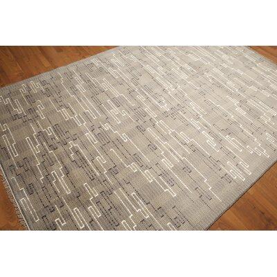 One-of-a-Kind Lorentzen Wool Gray/Beige Area Rug