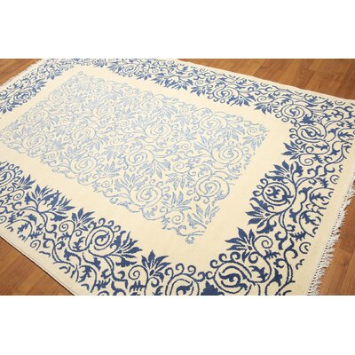 One-of-a-Kind Gresham Palace Wool Off White/Blue Area Rug