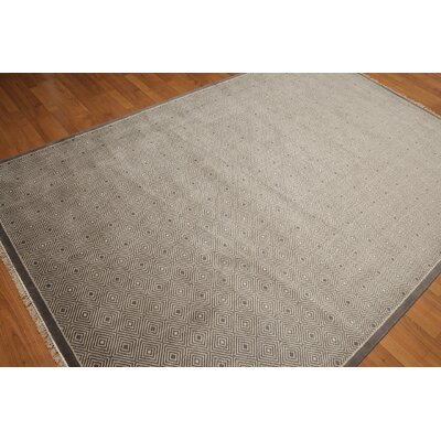 One-of-a-Kind Ritesh Wool Gray Area Rug