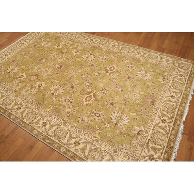 One-of-a-Kind Greystoke Wool Mustard/Beige Area Rug
