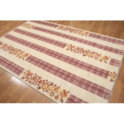 One-of-a-Kind Gaylor Wool Beige/Pink Area Rug