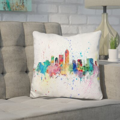 Janney Indianapolis Indiana Throw Pillow