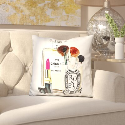 Birksgate Makeup Station Throw Pillow