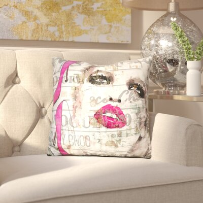 Wendi Face with Shoes Throw Pillow
