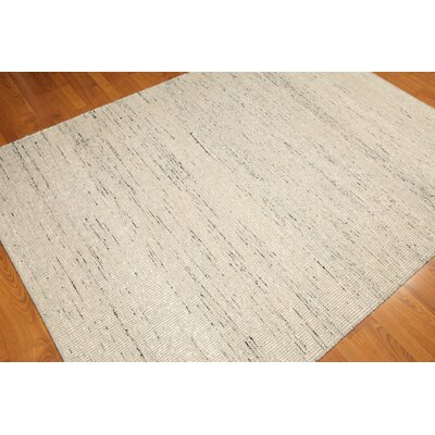 One-of-a-Kind Losey Kilim Hand-Knotted Wool Beige/Black Area Rug