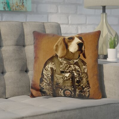 Coria Beagle Durro Sq Throw Pillow