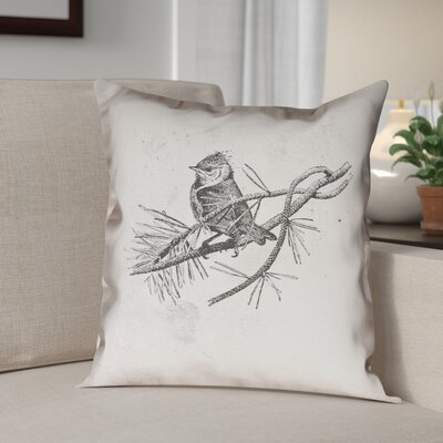 Venezia Vintage Bird Double Sided Throw Pillow Size: 14
