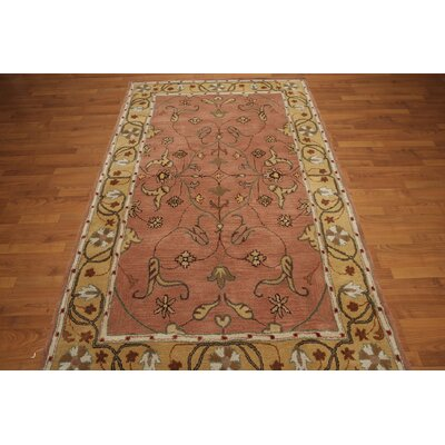 One-of-a-Kind Remer Hand-Tufted Wool Salmon/Light Gold Area Rug
