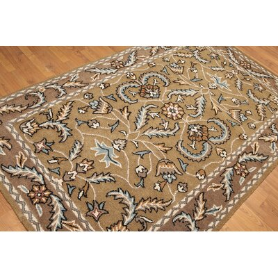 One-of-a-Kind Reich Hand-Knotted Wool Gray/Aqua Area Rug
