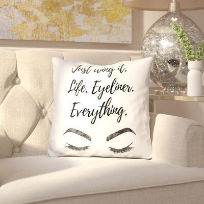 Myrna Just Wing It Throw Pillow