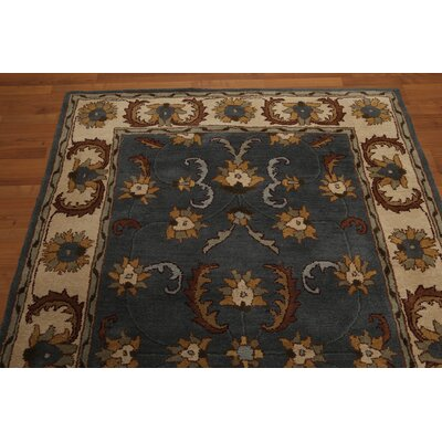 One-of-a-Kind Remley Hand-Tufted Wool Blue/Beige Area Rug