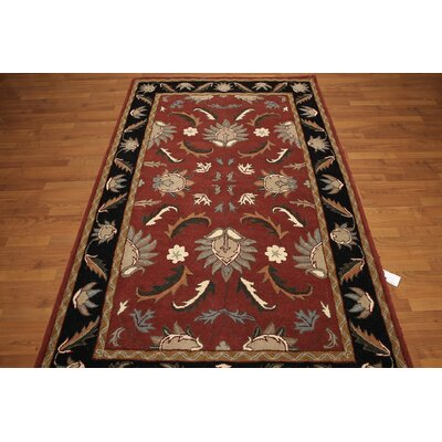 One-of-a-Kind Renn Hand-Tufted Wool Rust/Black Area Rug