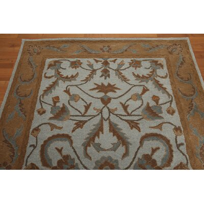 One-of-a-Kind Remmers Hand-Tufted Wool Aqua/Brown Area Rug