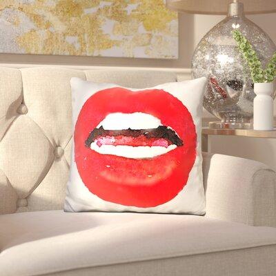 Keiko Lips are Moving Throw Pillow