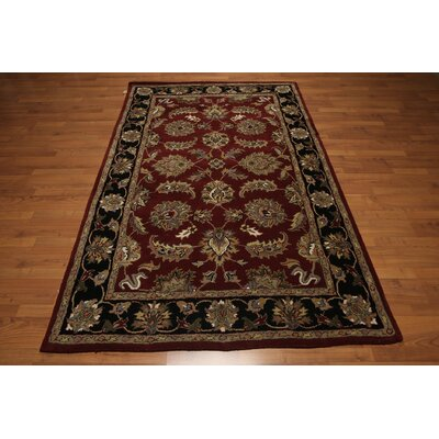 One-of-a-Kind Reiter Hand-Tufted Wool Burgundy/Red Area Rug