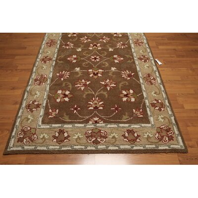 One-of-a-Kind Rene Hand-Knotted Wool Brown/Beige Area Rug