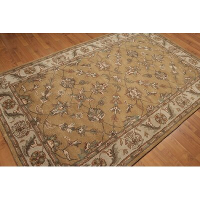 One-of-a-Kind Reimers Hand-Tufted Wool Tan/Beige Area Rug