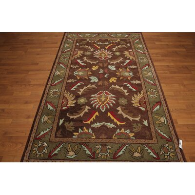 One-of-a-Kind Dillingham Hand-Tufted Wool Brown/Olive Area Rug