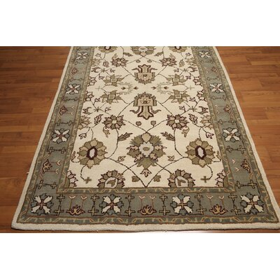 One-of-a-Kind Dillman Hand-Tufted Wool Ivory/Gray Area Rug