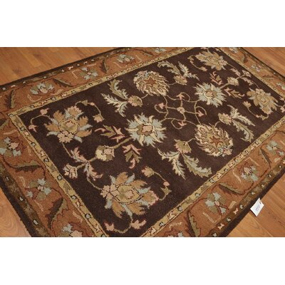 One-of-a-Kind Renfro Hand-Tufted Wool Chocolate/Brown Area Rug