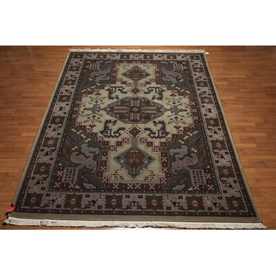 One-of-a-Kind Ranstead Heriz Oriental Persian Wool Olive/Green Area Rug