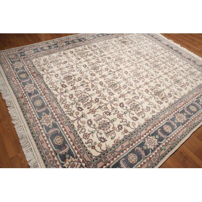 One-of-a-Kind Repass Oriental Hand-Knotted Wool Ivory/Gray Area Rug