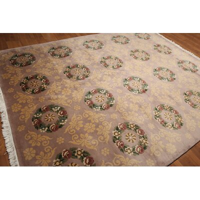 One-of-a-Kind Rapp Hand-Knotted Wool Pale Pink/Light Gold Area Rug