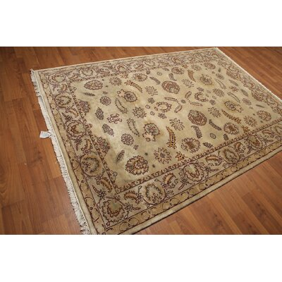 One-of-a-Kind Hameldon Persian Hand-Knotted Wool Burgundy/Beige Area Rug